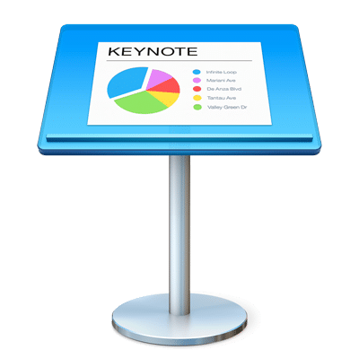 methods for presentation using apple s keynote