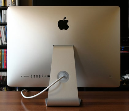 apple mac training - iMac®, rear view. Apple Mac Training service in London.